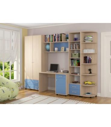детская комната Дельта №11 дуб молочный / голубой