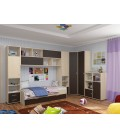 детская комната Дельта №2 цвет дуб молочный / венге
