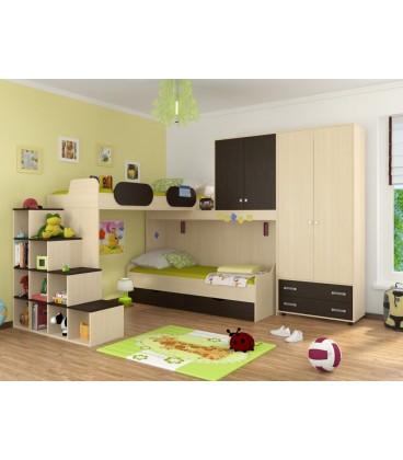 детская комната Дельта №6 цвет дуб молочный / венге