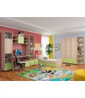 детская комната Дельта композиция №9 цвет дуб сонома / салатовый