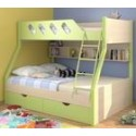 2 ярусные кровати с широким спальным местом внизу